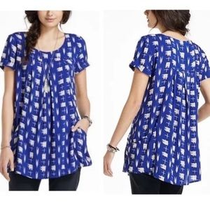 Anthropologie Holding Horses Abstraction Tunic Top